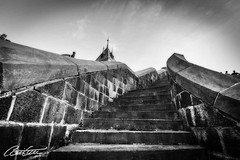Stairway to heaven (corineouellet) Tags: architecture history histoire oldquebec québec canada oldcity city canoncanada canonphoto canon blackandwhite bnw stair stairs stairway street