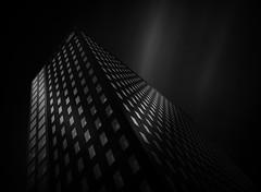 Dark Edges (paulantony2) Tags: building frankfurt blackandwhite windows light nikon germany city