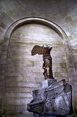 Winged Victory (2Colnagos) Tags: hellenistic greek louvre victory winged museum movement gesture nike godess paris europe france sculpture