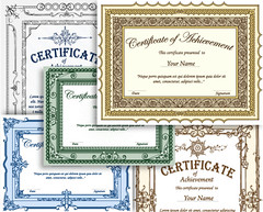 Certificate Border Vector Set-1 (stockgraphicdesigns) Tags: achievement appreciation award awardcertificate background border calligraphic calligraphy certificate certificateborder certificatedesign certificatetemplate completion decoration decorative designs diploma document education elegant elements floral flourish framesshield gift gold graduation guilloche horizontal illustration letterpress ornamental ornaments ornate paper print printablecertificate promotion swirl template text vertical victorian vignette vintage vintagecertificate
