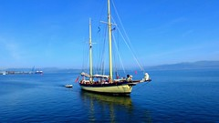 Scotland Greenock coming into port wooden sailing ship Maybe video 27 June 2018 by Anne MacKay (Anne MacKay images of interest & wonder) Tags: scotland greenock sea port wooden sailing ship maybe xs1 27 june 2018 video by anne mackay