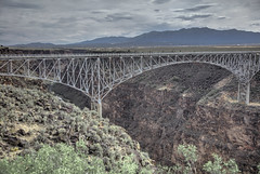 Rio Grande George Bridge 1 (Largeguy1) Tags: approved rio grande george bridge landscape clouds hdr canon 5dsr