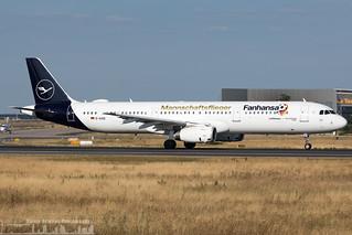 D-AISQ Lufthansa Airbus A321-231 special Fanhansa - Mannschaftsflieger (FRA - EDDF - Frankfurt)