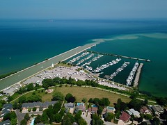 Port Dalhousie / St. Catharines from the air (J-a-x) Tags: stcatharines ontario canada lakeontario portdalhousie greatlakes