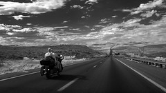 Born to be wild (Robert Couse-Baker) Tags: motorcycle vast freedom ride infrared arizona desert