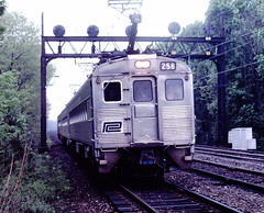 Penn Central 258 (CPShips) Tags: penncentral budd silverliner conrail septa narberth 1977