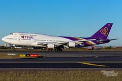 HS-TGA TG B747 34L YSSY-2735 (A u s s i e P o m m) Tags: thai thaiairways boeing b747 queenoftheskies syd yssy sydneyairport