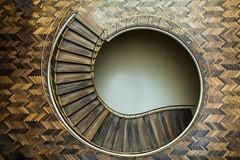 Staircase at Radhus Aarhus (Elbmaedchen) Tags: stairs staircase stairwell treppe rathaus radhus aarhus dänemark danmark denmark architektur architecture downstairs snake schnecke