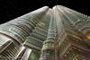 Petronas Towers at night. Kuala Lumpur, Malaysia (Phuketian.S) Tags: petronas twin tower suria trade center skyscraper kuala lumpur malaysia night evening sunset building architecture hotel mandarin oriental pond sky phuketian bridge