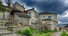 Storm coming over kipi panorama (Dimitil) Tags: kipi zagori zagorohoria epirus greece hellas stone stonebuilt stonevillage tradition mountain mountainvillage traditionalsettlement architecture traditionalarchitecture clouds sky dramaticsky dog animal people