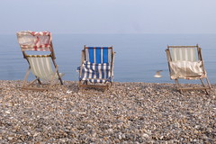 Deckchairs (ireniclife) Tags: beerbeach devon uk seaside