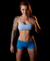 Stephanie (Some Random Photography) Tags: fit fitness fitspo woman health workout portrait redhead photoshoot model studio