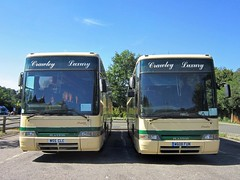 Crawley Luxury Coaches of Crawley W55CLC and W608FUM (harryjaipowell) Tags: battle eastsussex bus coach jmcoaches clc crawleyluxurycoaches crawley w608fum jbrown volvo b10m plaxton premiere b10m62 350 c55f wallacearnold 2000 c48ft repainted w55clc w614fum westsussex clcoaches premiereclass battlecoachpark marketroad coachpark
