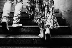 Saturday night 288.365 (ewitsoe) Tags: canoneos6dii city europe ewitsoe spring warszawa erikwitsoe poland urban warsaw couple dressedfordance motion blur stairs mono monochroem blackandwhite bnw canon 50mm