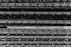 Empilement (misterblue66) Tags: d610 nikon nikonpassion bw bn noiretblanc nb grille grill barrière 2470 tamron bruxelles brussels empilement ligne line