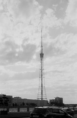 Tele tower (suxarik) Tags: nikon s2 nikons2 rf rangefinder nikonrangefinder nikkor film bw xtol blackandwhite blackwhite monochrome diy selfdeveloped handdeveloped polypan polypanf iso50 scanned minolta minoltadimagescanelite5400 expired