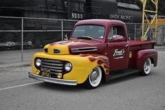 54th Annual LA Roadsters Show (USautos98) Tags: 1948 ford f1 pickuptruck hotrod streetrod kustom flames