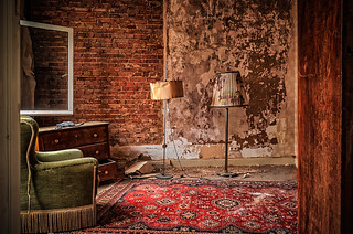 the old floor lamp