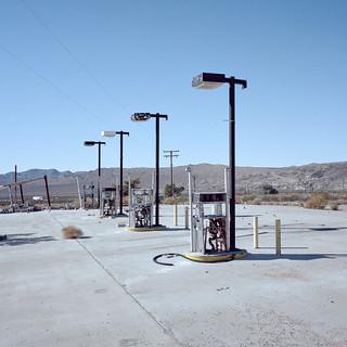 gas tax. mojave desert, ca. 2016.
