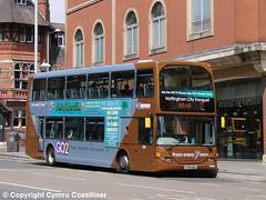 Nottingham City Transport 980 - YT10 UWJ (Cymru Coastliner) Tags: nottinghamcitytransport nct scaniaomnidekka eastlancs 980 yt10uwj bus nottingham n230ud