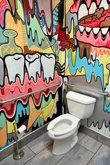 Graffiti (jpellgen (@1179_jp)) Tags: omaha bigo ne nebraska midwest usa america sigma 1770mm nikon d7200 2018 june spring summer travel roadtrip block16 art bathroom graffiti toilet food foodporn