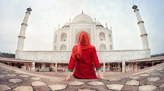491173194 (visa.india03) Tags: kurta beautiful travel tourism women females scarf sitting looking islam religion majestic awe relaxation love exploration red pattern architecture traveldestinations vacations back tourist tajmahal agra india asia marble decoration flooring mosque templebuilding palace monument cityscape globemanmadeobject mahal punjabiculture discover visa evisa guidelines services