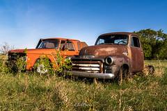 Truck Retirement (glen.bowe) Tags: car gmc oldtruck abandoned automobile truck vehicles old pentax pentaxart canada prairie rural rurex rust alberta