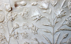 taj mahal marble flowers (kexi) Tags: agra india asia uttarpradesh tajmahal white marble flowers lilies tomb sculpted sculpture old ancient love canon february 2017 detail wallpaper instantfave
