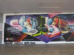 Street art Croydon, London (DJLeekee) Tags: streetart graffiti london croydon parkstreet pacman news