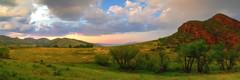 Sunset near Lory. (Tony Hochstetler) Tags: nikon nikon2870mmf28 d800e breakthroughphotography lee06graduatedneutraldensity lorystatepark lory ftcollins colorado sunset clouds color panorama landscape hay bales