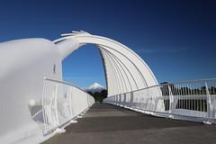 Te Rewa Rewa Bridge (ambodavenz) Tags: terewarewa terewarewabridge bridge waiwhakaihoriver newplymouth taranaki newzealand mounttaranaki mountegmont mttaranaki mtegmont mountain scenic