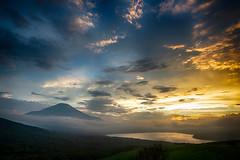Summer Fuji sunset scenery (shinichiro*@OSAKA) Tags: 20180710ds53873hdr 2018 crazyshin nikond4s afsnikkor1424mmf28ged fuji july summer yamanashi japan lakeyamanaka sunset nik hdr 42620192204 candidate