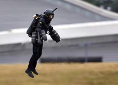 Rocket Man (Bernie Condon) Tags: fbo farnborough airshow display flying aircraft aviation rocketman jetpack
