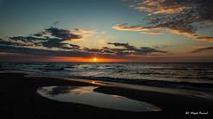 Sunset (Magda Banach) Tags: balticsea canon tamronsp2470mmf28divcusdg2 beach blue clouds colors landscape nature poland polska reflection sky summer sun sunset water dźwirzyno województwozachodniopomorskie pl