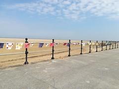 Sea front (daveandlyn1) Tags: hoylake railing bunting flags promenade walkway pavement beach bluesky fluffyclouds p8lite2017 pralx1 huawei smartphone cameraphone