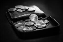 Wallet (Jose Rahona) Tags: moneda monedas coin wallet monedero cartera pocket blackandwhite blancoynegro bw