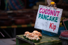 Coconut Pancakes... (Syahrel Azha Hashim) Tags: 2018 laos nikon street laoscurrency localdelight shallow holiday nopeople simple details localfood streetfood musttry night market asia getaway handheld streetphotography colorimage vacation luangprabang coconutpancakes light d300s naturallight detail colorful dof foodphotography travel syahrel kip nightmarket colors pancakes food nightshot delicious localdish