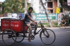 The Garbage Collector's Youth (N A Y E E M) Tags: youngman rickshawvan garbage candid colors friday afternoon ramadan street navalavenue norahmedroad chittagong bangladesh windshield