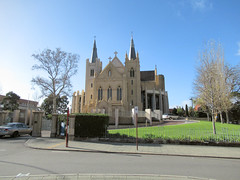 17 July 2018 - Saint Mary's Cathedral, Victoria Square, Perth, Western Australia (aussiejeff) Tags: 2018 westernaustralia wa australia aussiejeff jeffc canon sx620 powershot saintmary cathedral church spire victoriasquare historic architecture