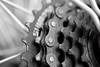 bicycle (adelina_tr) Tags: macromondays bicycle transport macro bw gearwheel gear nikond5300 nature metal transportation blancoynegro
