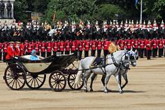 Her Majesty The Queen (jo92photos) Tags: hermajestythequeen thequeen queenelizabethii horseguards troopingthecolour red troops horse horsesandcarriage phaeton 15challengeswinner