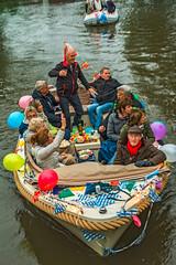 Rocking the Boat (fotofrysk) Tags: dontstandup boat balloons revellers paddleboarder boattour canals grachten participants people locals tourists water boats sloops netherlands friesland fryslan bolsward boalsert twilight sigma1750mmf28exdcoxhs nikond7100 201805183475