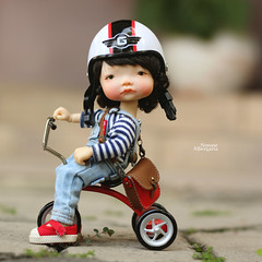 Let's join me!! (Passion for Blythe) Tags: irrealdoll irrealdollery ery tiny cute bjd ride tricycle doll