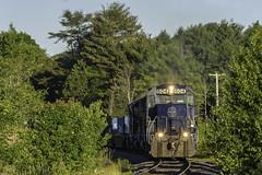 POWA at Greene (Thomas Coulombe) Tags: panamrailways panam emdsd402 sd402 powa freighttrain train greene maine