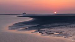 Autre planète (flo73400) Tags: sun sunset landscape paysage tombelaine normandie