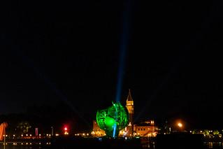 Illuminations Globe In Front of Italy Pavilion