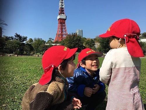 Good morning! #kindergarten #daycare #preschool #tokyo #park #friends #cutekids #保育園 #幼稚園 #東京 #お友達 #公園