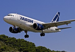 JSI/LGSK: Tarom Airbus A318-111 YR-ASB (Roland C.) Tags: jsi lgsk skiathos airport greece airliner aircraft airplane aviation tarom airbus a328 a38100 yrasb