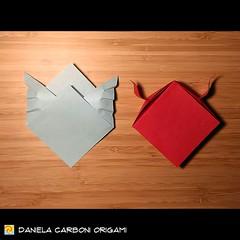 "Origami Challenge 69-70/365 ""Angelo e Diavolo 2D"" Modello creato nel 2015. ------------------------------------------- ""Angel and Devil 2D"" Model created in 2015.  #origami #cartapiegata #paperfolding #papiroflexia  #paper #paperart #createdandfolded #ori (Nocciola_) Tags: angel origami2d paperart cartapiegata createdandfolded papiroflexia devil paperfolding originaldesign danielacarboniorigami paper origami"