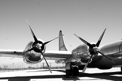 BW Engines and Tail (Jay Costello) Tags: arizona aviation pimaairandspacemuseum tuscon military bw blackandwhite monochrome airplane transport propeller